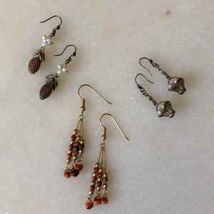 Jewelry - 3 Pairs Vintage Earrings